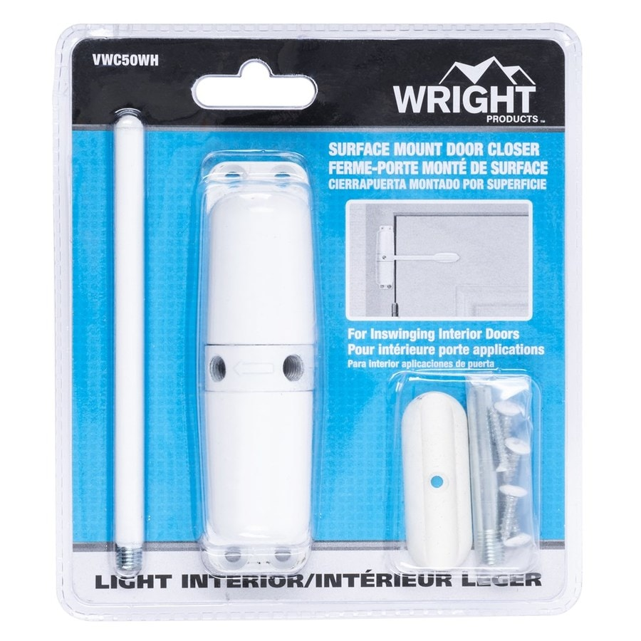 Shop Wright Products White Residential Door Closer At