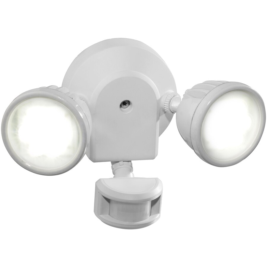 Utilitech 180-Degree 2-Head LED Motion-Activated Flood Light