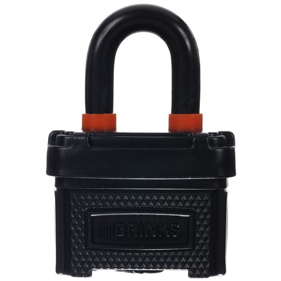 Brink's Home Security 1.5-in Black Steel Shackle Keyed Padlock