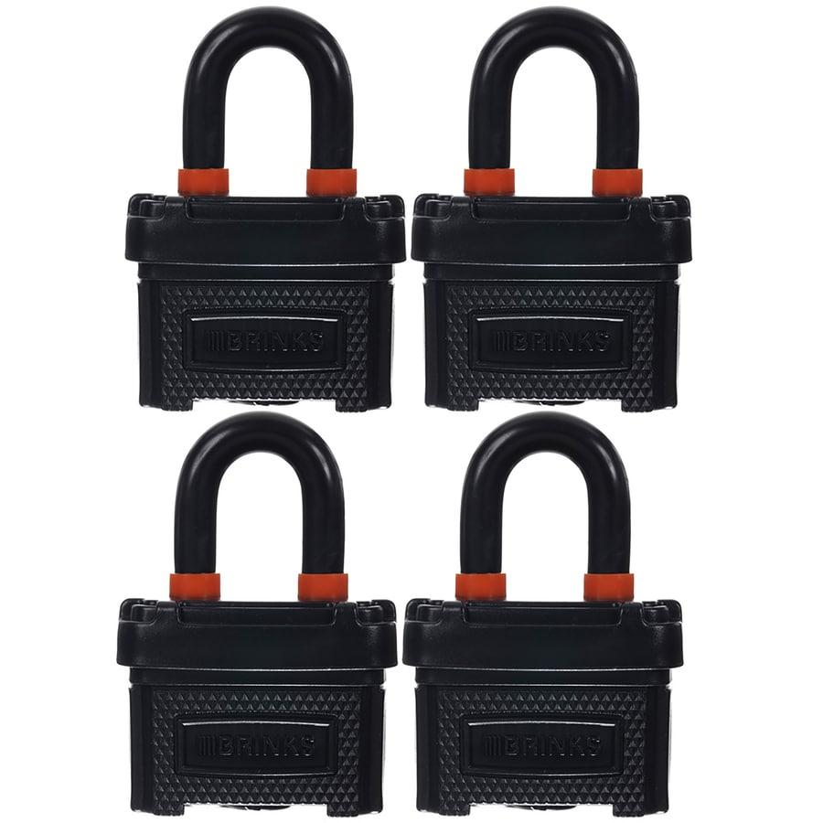Brink's Home Security 4-Pack 1.5-in Steel Shackle Keyed Padlocks