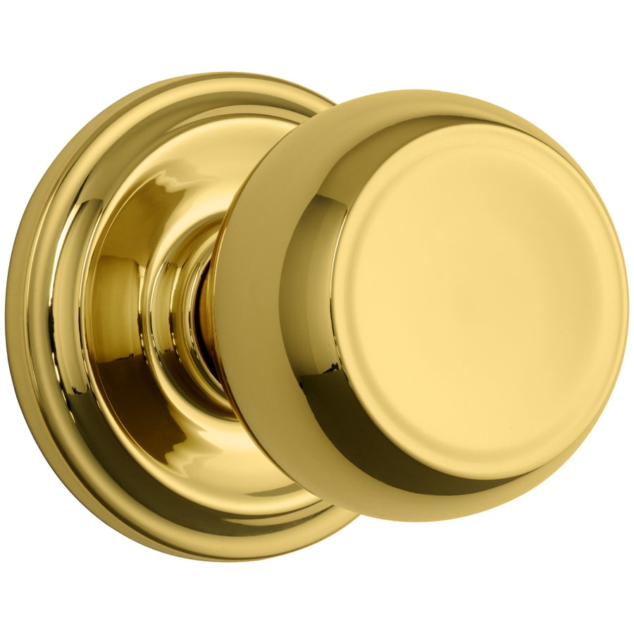 Brink's Home Security Push Pull Rotate Polished Brass Round Passage Door Knob