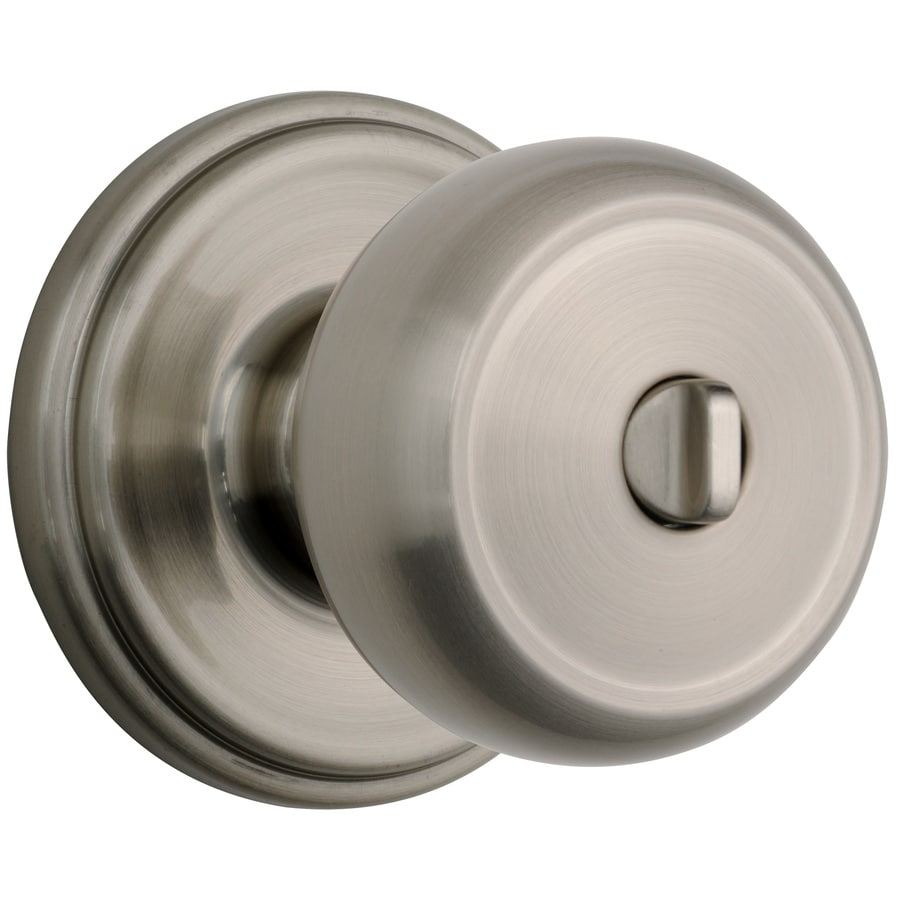 Brinku0027s Home Security Push Pull Rotate Satin Nickel Round Turn Lock Privacy Door  Knob