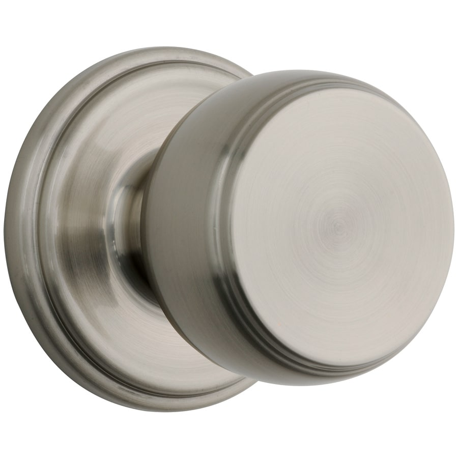 Brink's Home Security Push Pull Rotate Satin Nickel Round Passage Door Knob