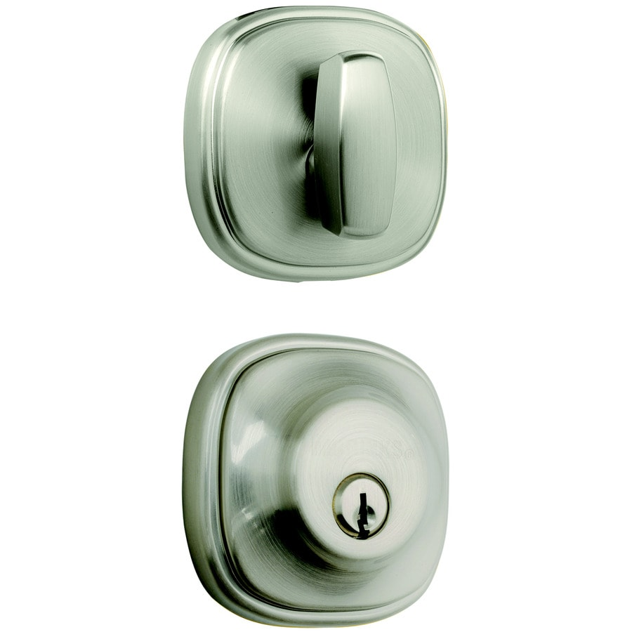 Brink's Home Security Push Pull Rotate Satin Nickel Single-Cylinder Deadbolt