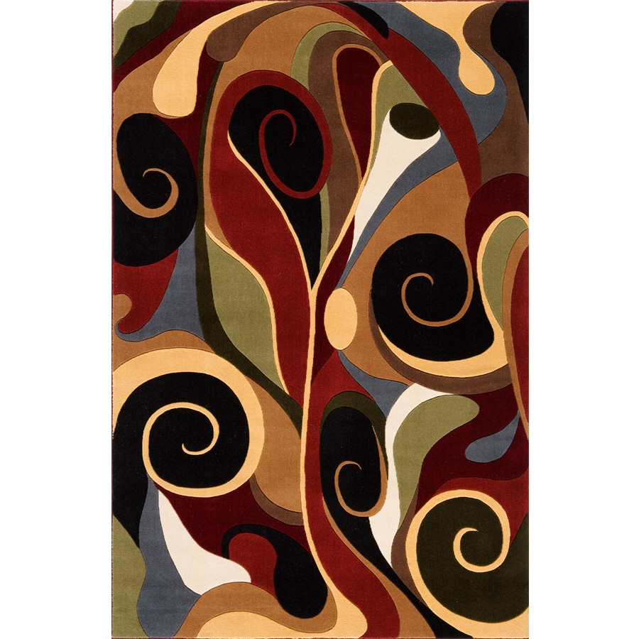 Momeni Graffiti Multi Rectangular Indoor Machine-made Area Rug (Common: 5 x 8; Actual: 5.25-ft W x 7.75-ft L)