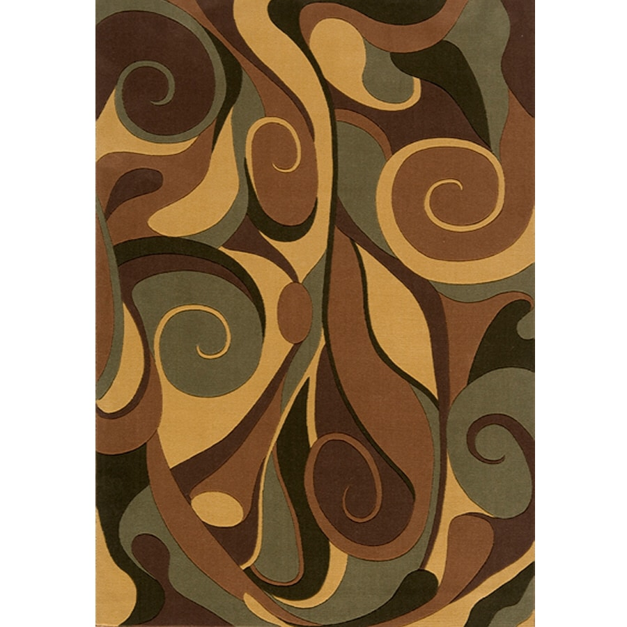 Momeni Graffiti Rectangular Brown Geometric Woven Wool Area Rug (Common: 10-ft x 14-ft; Actual: 10-ft x 14-ft)