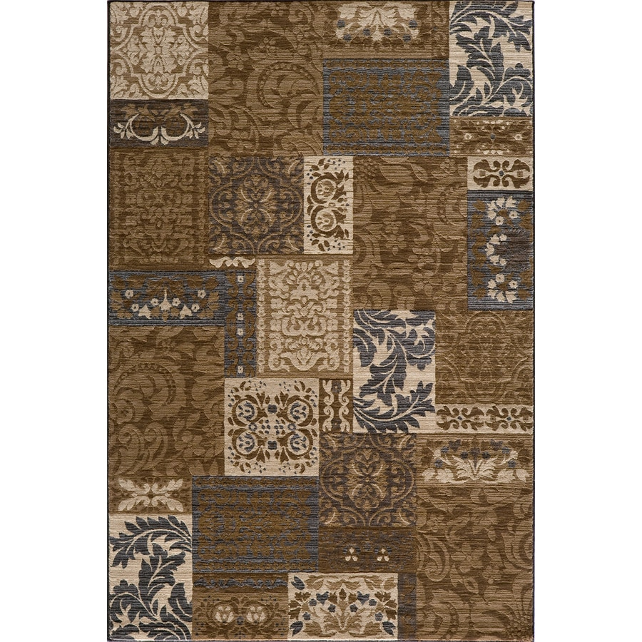 Momeni Fulton Rectangular Brown Transitional Woven Area Rug (Common: 4-ft x 6-ft; Actual: 3.91-ft x 5.58-ft)