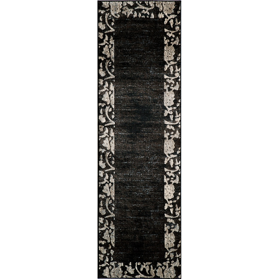 Momeni Crosby Black Woven Runner (Common: 2-ft x 7-ft; Actual: 2.25-ft x 7.5-ft)