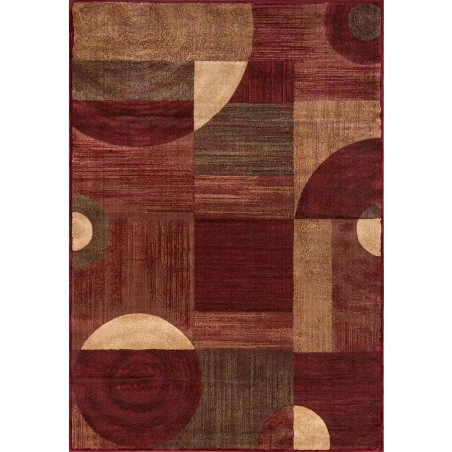Momeni Essex Red Rectangular Indoor Machine-Made Area Rug (Common: 4 x 6; Actual: 3.9-ft W x 5.58-ft L)