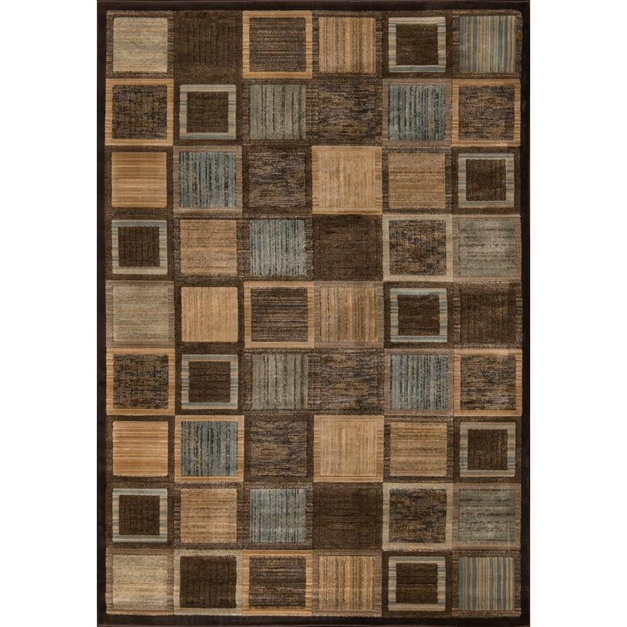 Momeni Varick Brown Rectangular Indoor Woven Area Rug (Common: 4 x 6; Actual: 3.9-ft W x 5.58-ft L)
