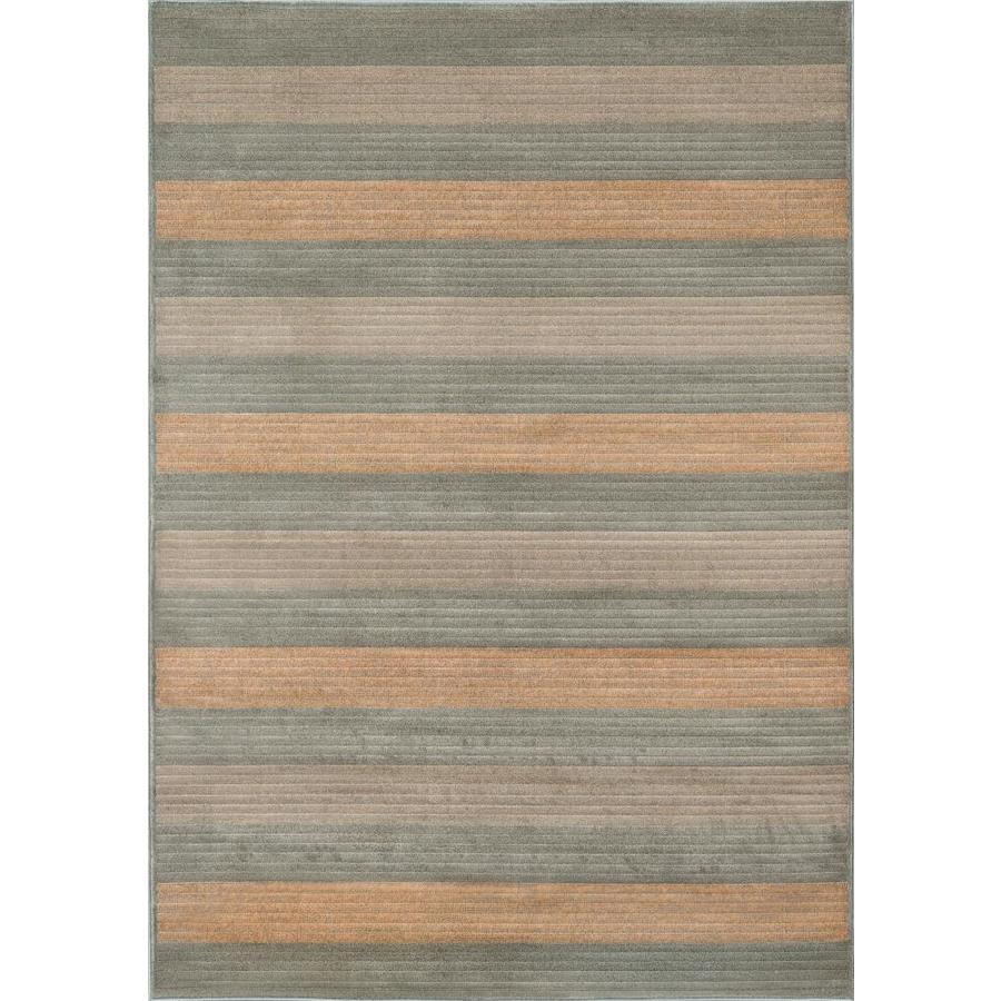 Momeni Cooper Lt Blue Rectangular Indoor Woven Area Rug (Common: 8 x 10; Actual: 94-in W x 118-in L)