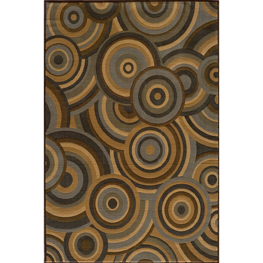 Momeni Chase Rectangular Brown Geometric Woven Area Rug (Common: 8-ft x 10-ft; Actual: 7.83-ft x 9.83-ft)