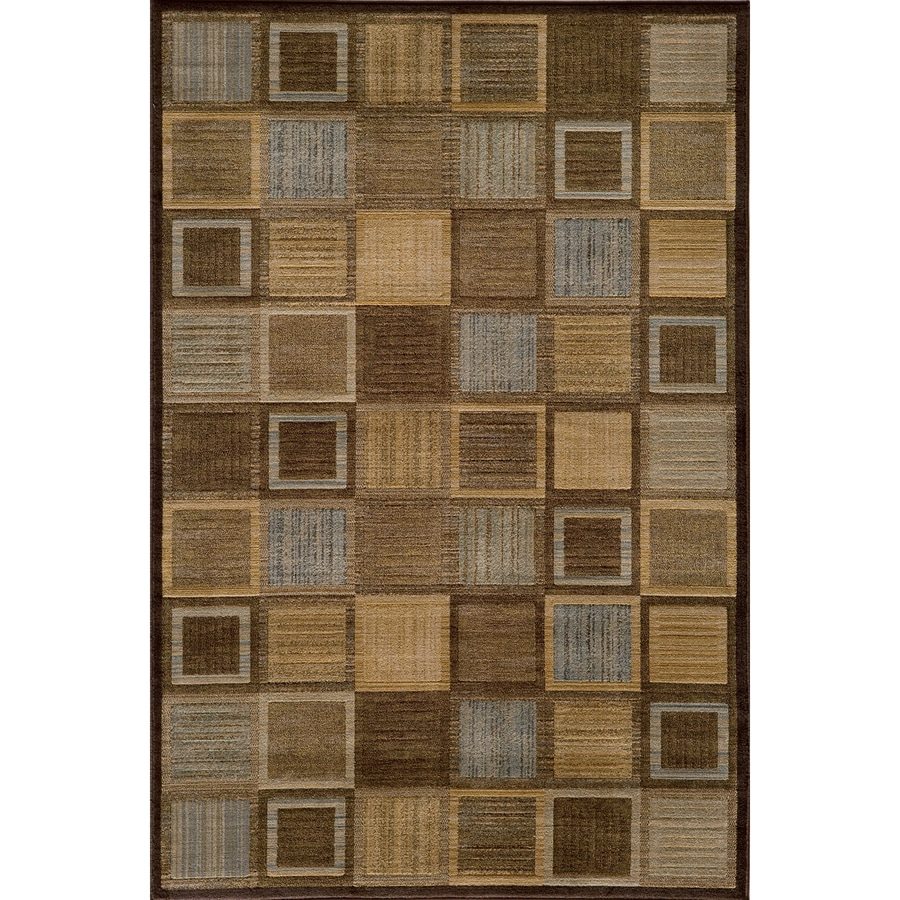 Momeni Varick Rectangular Brown Geometric Woven Area Rug (Common: 10-ft x 13-ft; Actual: 9.25-ft x 12.5-ft)