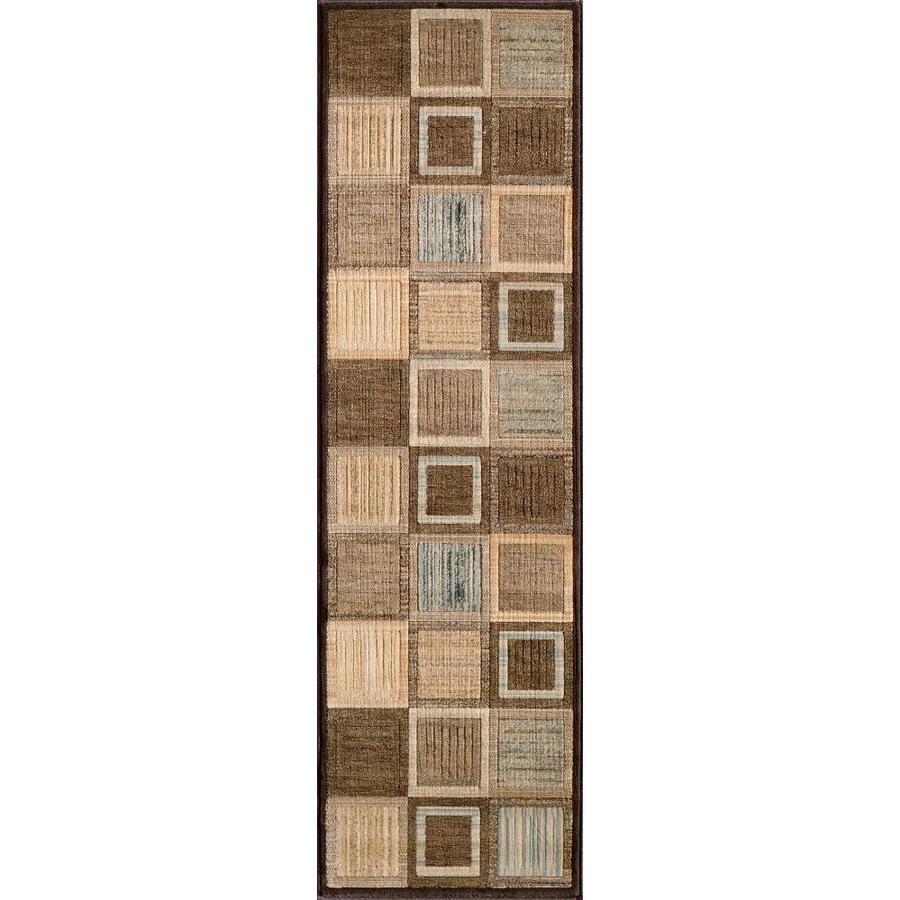 Momeni Varick Brown Rectangular Indoor Woven Runner (Common: 2 x 7; Actual: 27-in W x 90-in L)