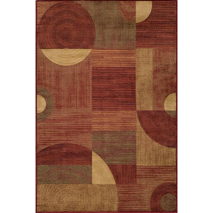 Momeni Essex Rectangular Red Geometric Woven Area Rug (Common: 5-ft x 8-ft; Actual: 5.25-ft x 7.5-ft)