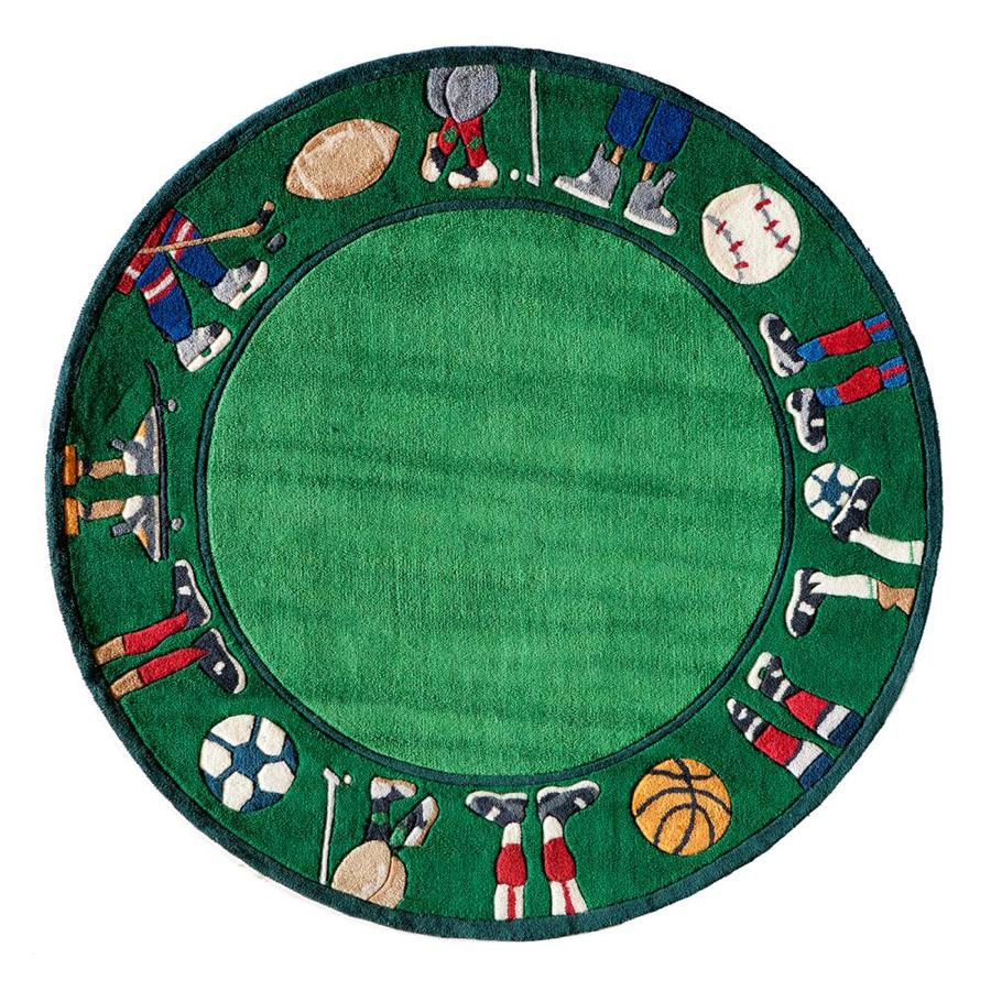 Momeni Lil Mo Whimsy Grass Round Indoor Handcrafted Area Rug Common