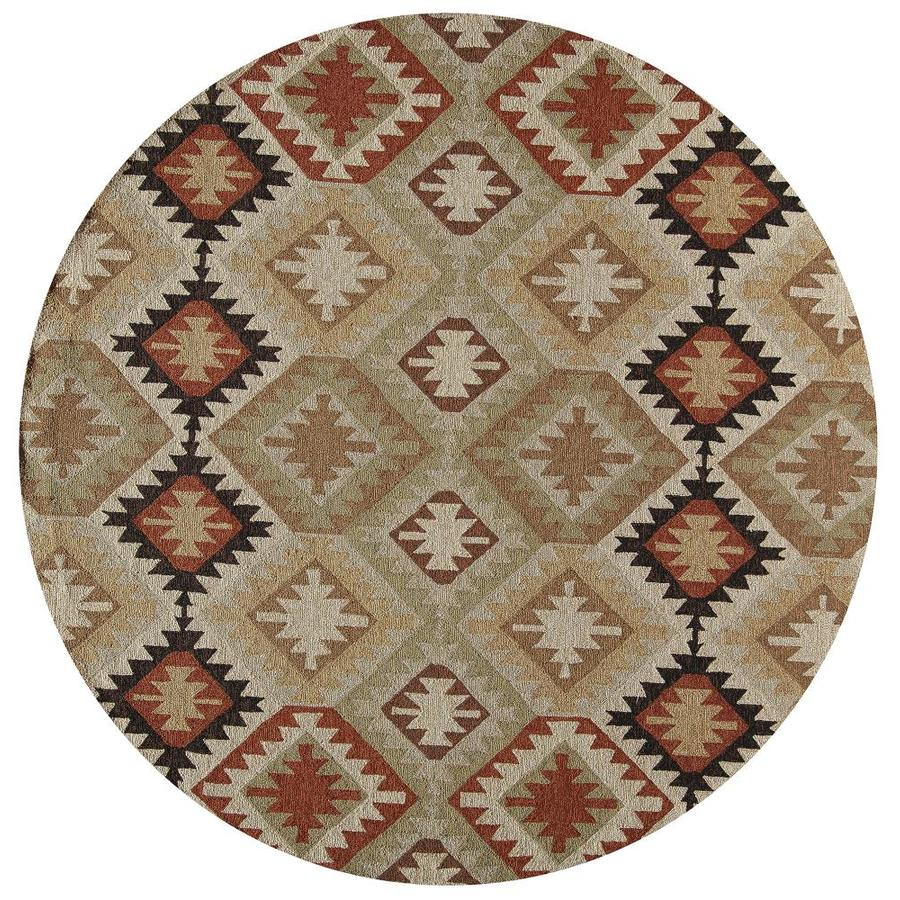 Momeni Veranda Black Round Indoor Outdoor Handcrafted Area Rug