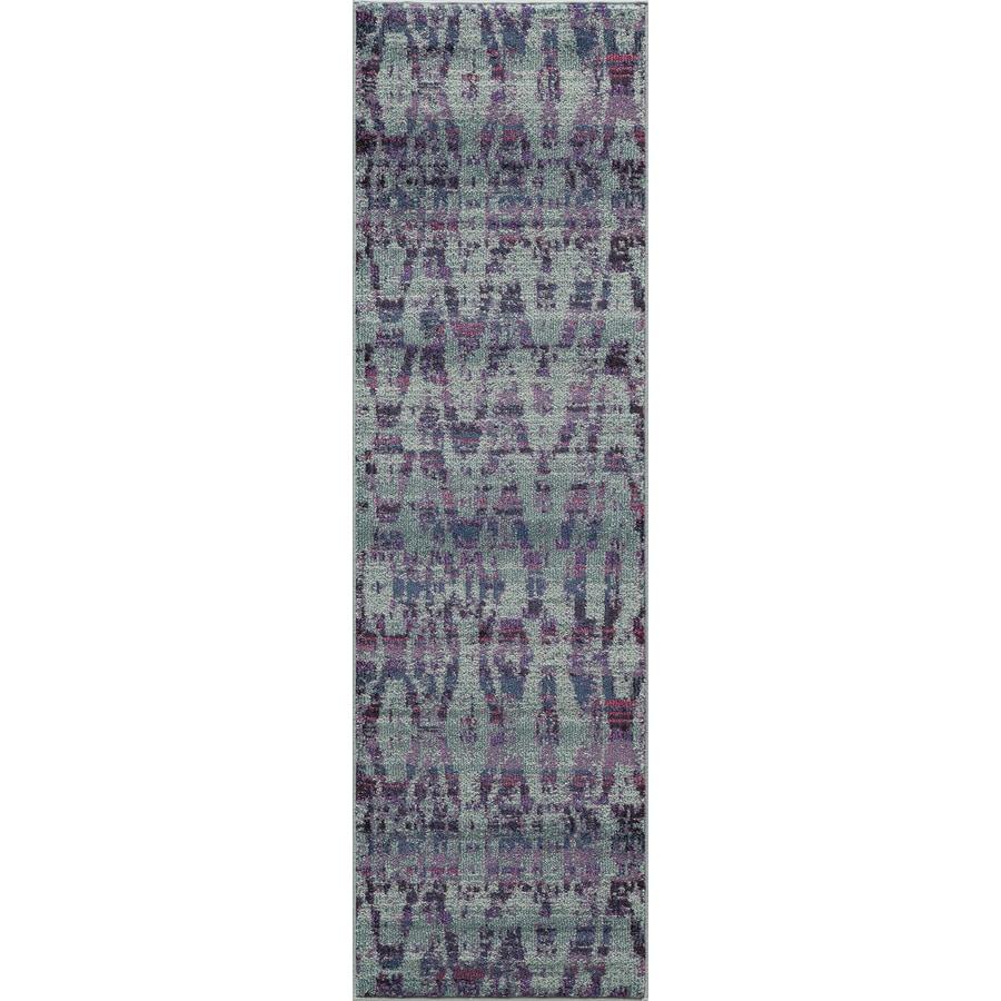 Momeni Zerega Blue Rectangular Indoor Woven Runner (Common: 2 x 8; Actual: 27-in W x 90-in L)