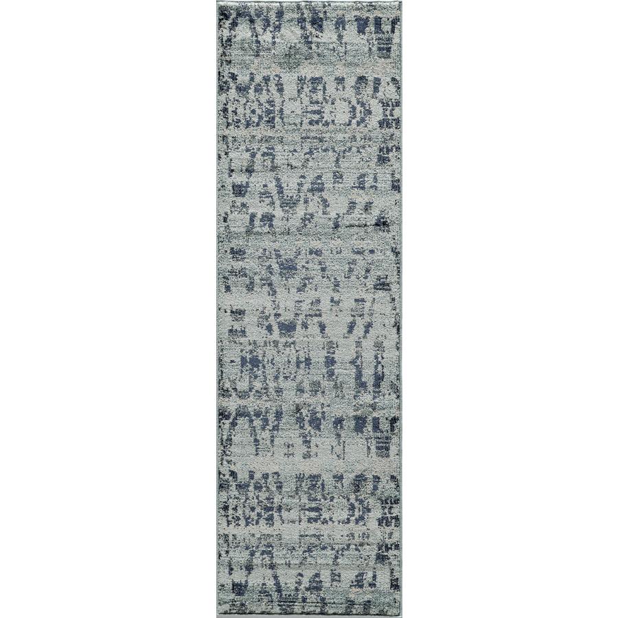 Momeni Drake Ocean Blue Rectangular Indoor Woven Runner (Common: 2 x 8; Actual: 27-in W x 90-in L)