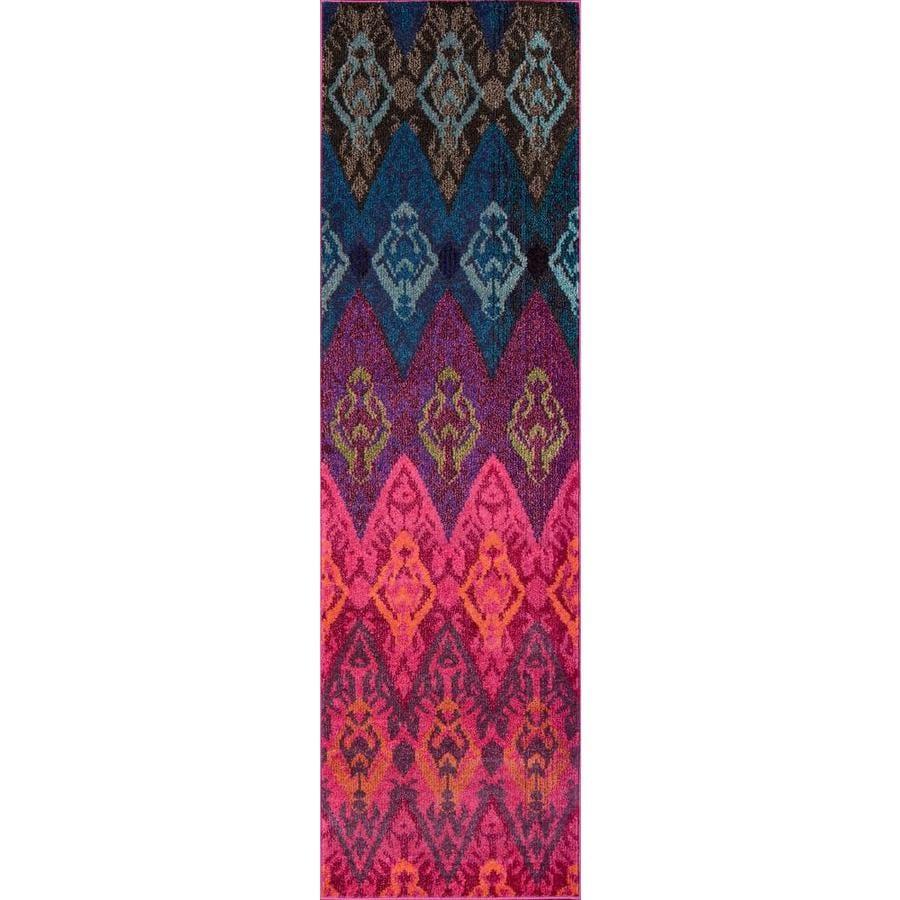 Momeni Dorsey Multi Rectangular Indoor Woven Runner (Common: 2 x 8; Actual: 2.25-ft W x 7.5-ft L)