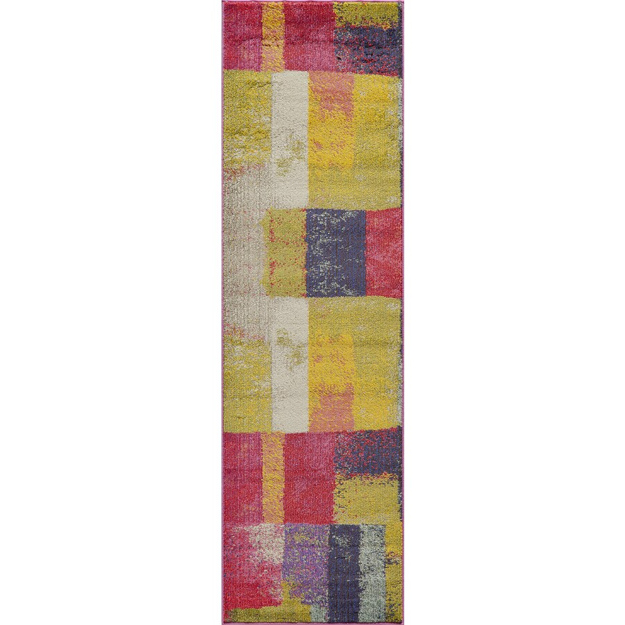 Momeni Barry Multi Rectangular Indoor Woven Runner (Common: 2 x 8; Actual: 2.25-ft W x 7.5-ft L)