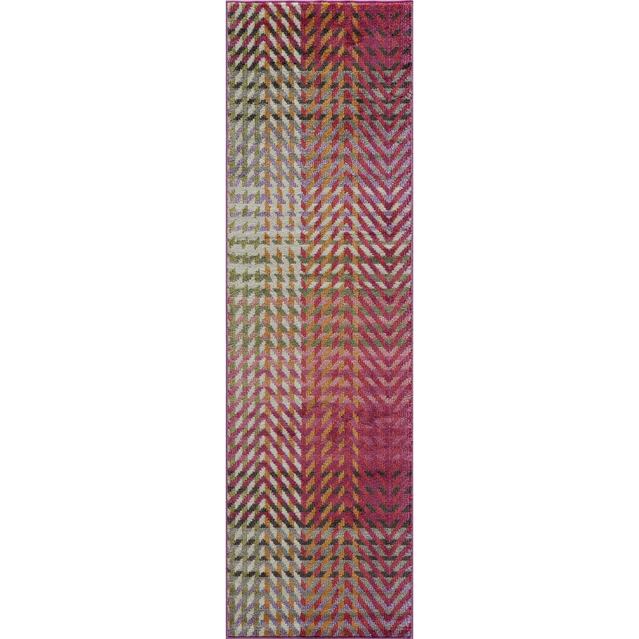 Momeni Elton Multi Rectangular Indoor Woven Runner (Common: 2 x 8; Actual: 2.25-ft W x 7.5-ft L)