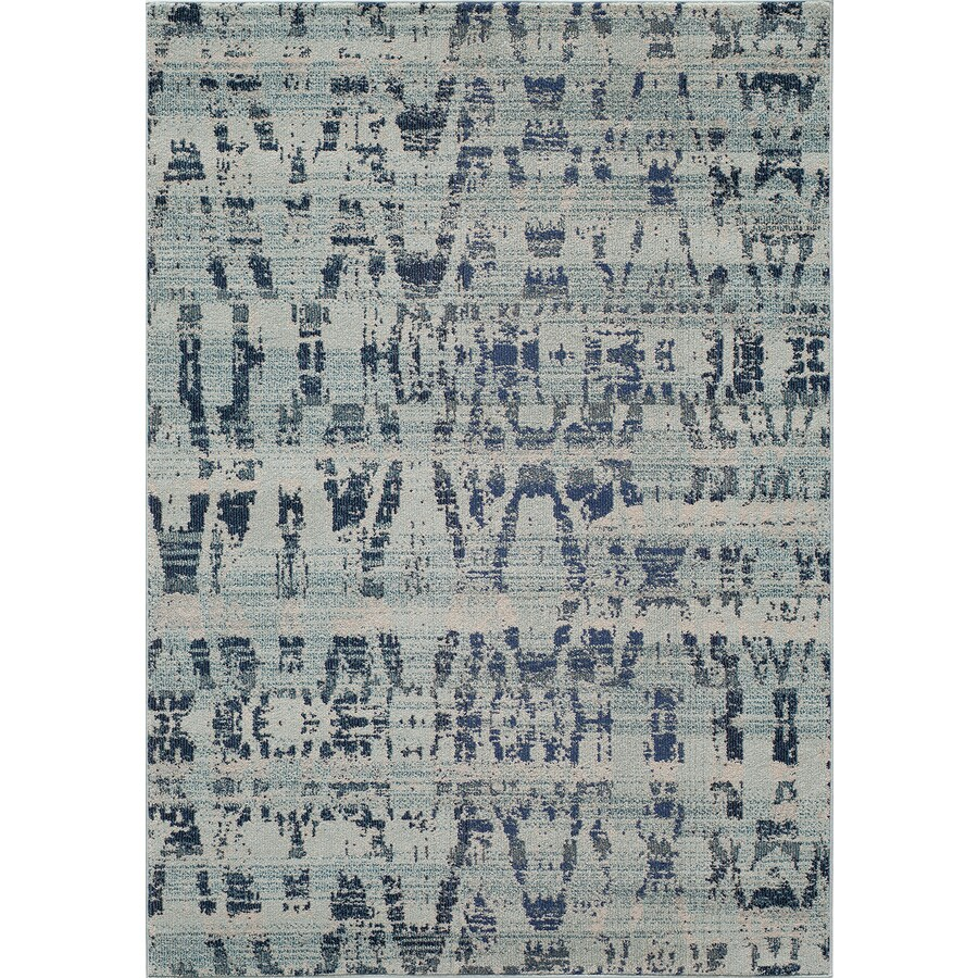 Momeni Drake Ocean Blue Rectangular Indoor Woven Area Rug (Common: 4 x 6; Actual: 3.92-ft W x 5.58-ft L)