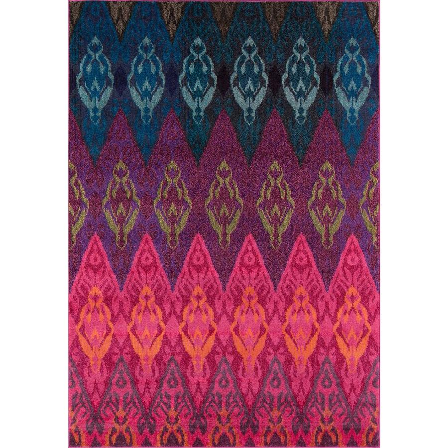 Momeni Dorsey Pink Rectangular Indoor Woven Area Rug (Common: 4 x 6; Actual: 3.92-ft W x 5.58-ft L)