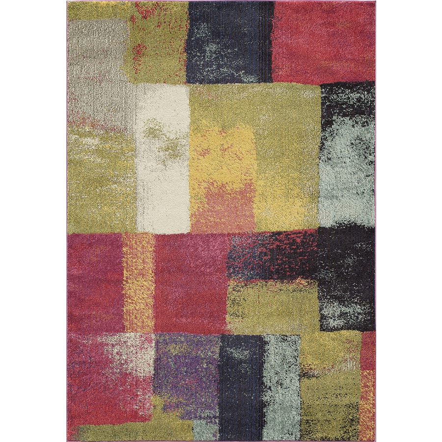 Momeni Barry Multi Rectangular Indoor Woven Area Rug (Common: 4 x 6; Actual: 3.92-ft W x 5.58-ft L)