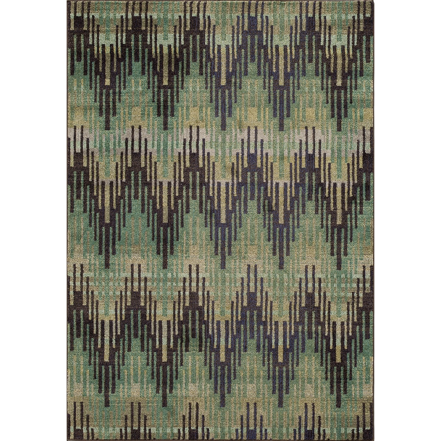 Momeni Jarret Green Rectangular Indoor Machine-made Area Rug (Common: 5 x 8; Actual: 5.25-ft W x 7.5-ft L)