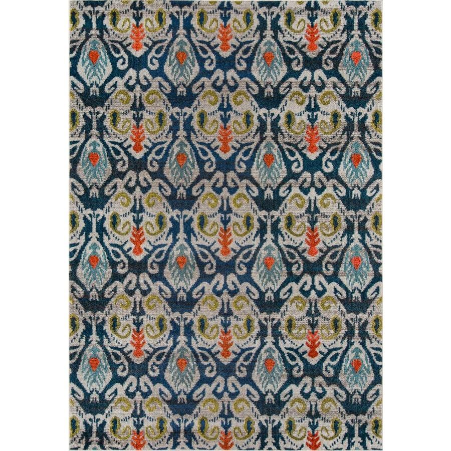 Momeni Pelham Navy Rectangular Indoor Machine-made Area Rug (Common: 5 x 8; Actual: 5.25-ft W x 7.5-ft L)