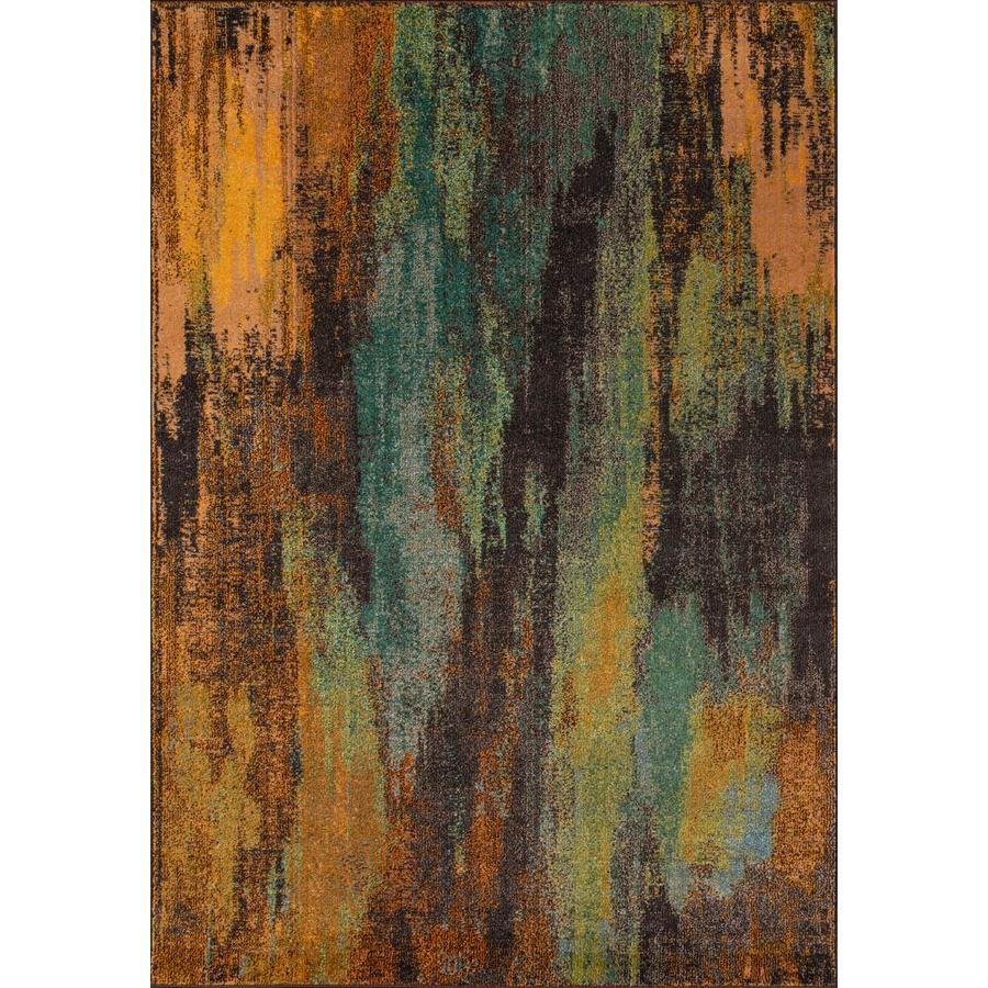 Momeni Dawson Multicolor Rectangular Indoor Woven Area Rug (Common: 5 x 8; Actual: 63-in W x 90-in L)