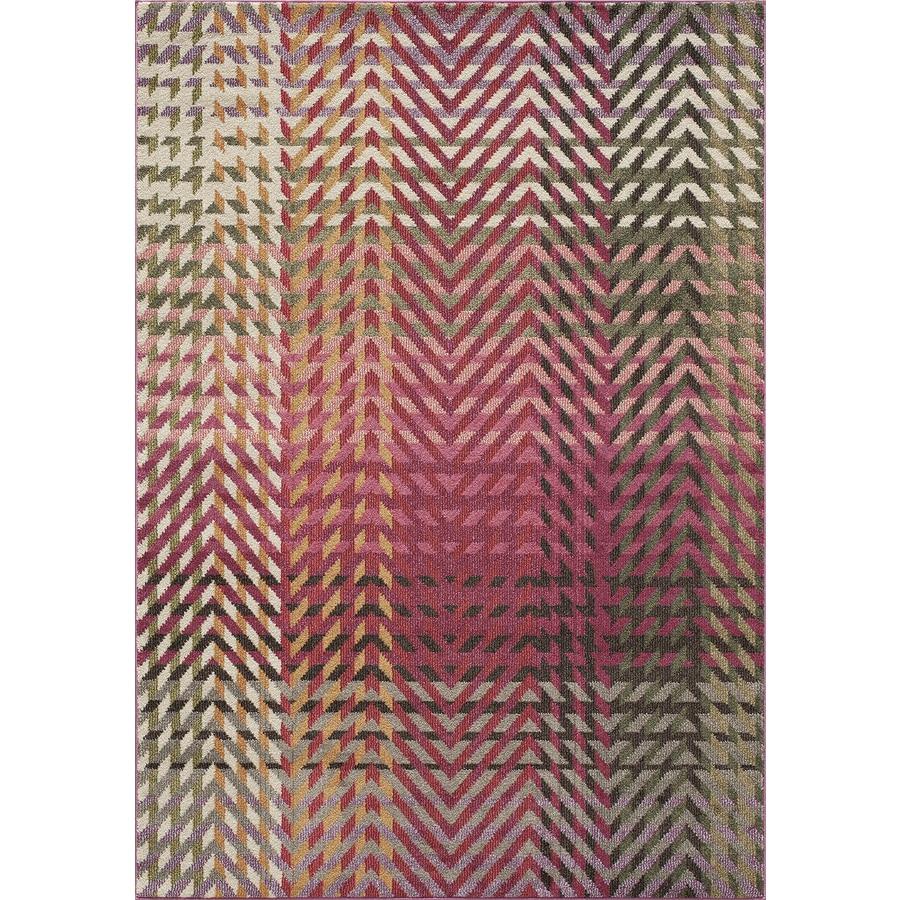 Momeni Elton Multi Rectangular Indoor Woven Area Rug (Common: 5 x 8; Actual: 5.25-ft W x 7.5-ft L)