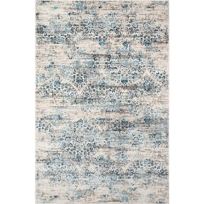 Momeni Juliet 2 X 3 Blue Indoor Distressed Overdyed Bohemian Eclectic Area Rug In The Rugs Department At Lowes Com