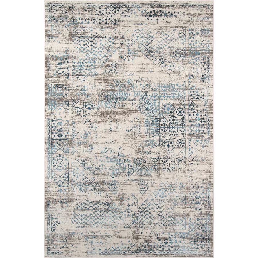Momeni Juliet 3 X 5 Blue Indoor Distressed Overdyed Vintage Area Rug In The Rugs Department At Lowes Com