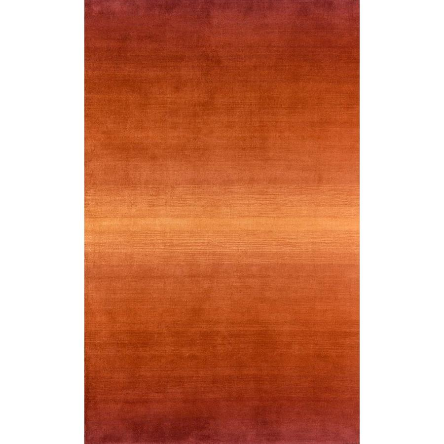 Momeni Katy Orange Rectangular Indoor Handcrafted Area Rug (Common: 5 x 8; Actual: 5-ft W x 8-ft L)