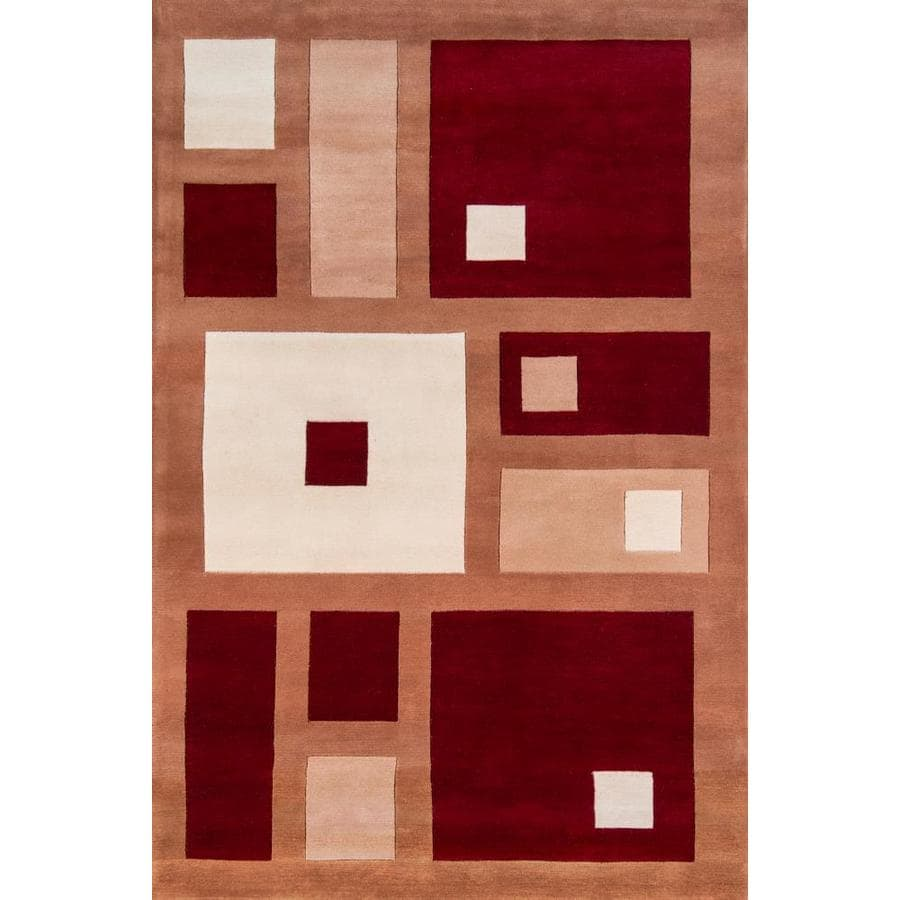 Momeni Melrose Red Rectangular Indoor Handcrafted Area Rug (Common: 4 x 6; Actual: 3.5-ft W x 5.5-ft L)