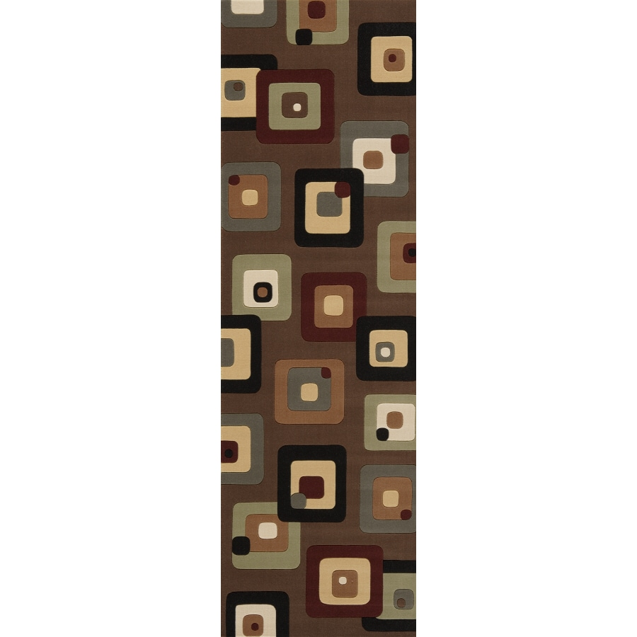 "Momeni 2'6"" x 8' Chocolate Structure Runner"