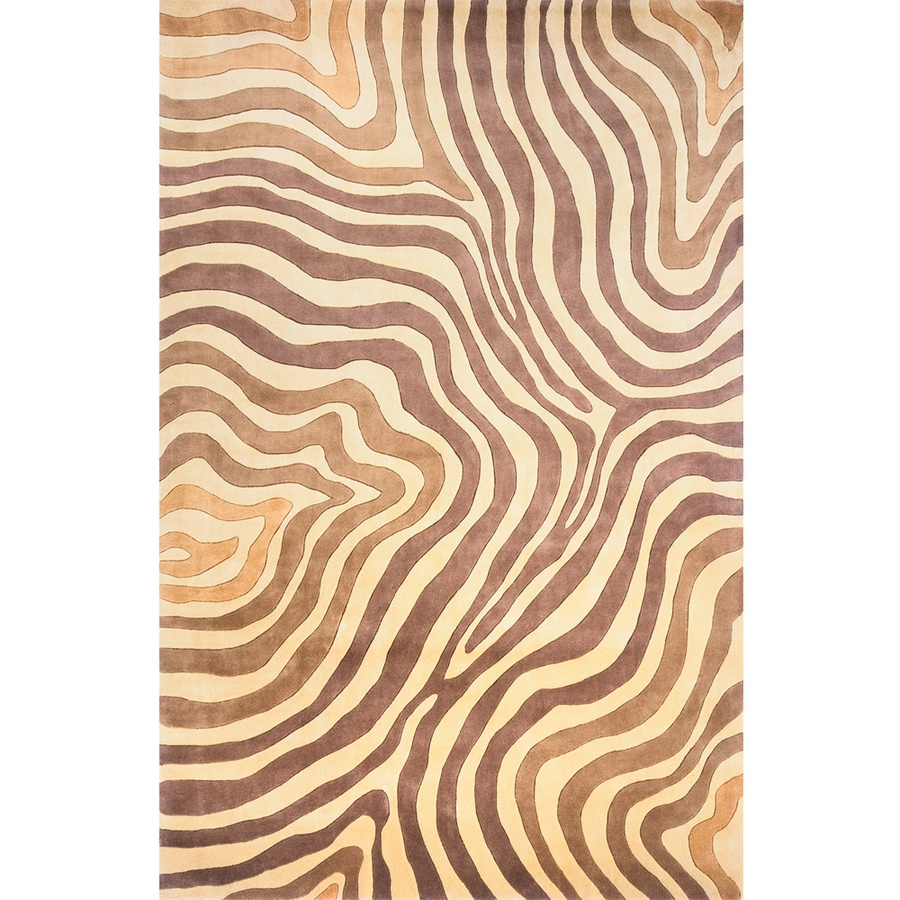 Momeni Lennox Rectangular Brown Transitional Tufted Wool Area Rug (Common: 5-ft x 8-ft; Actual: 5.25-ft x 8-ft)