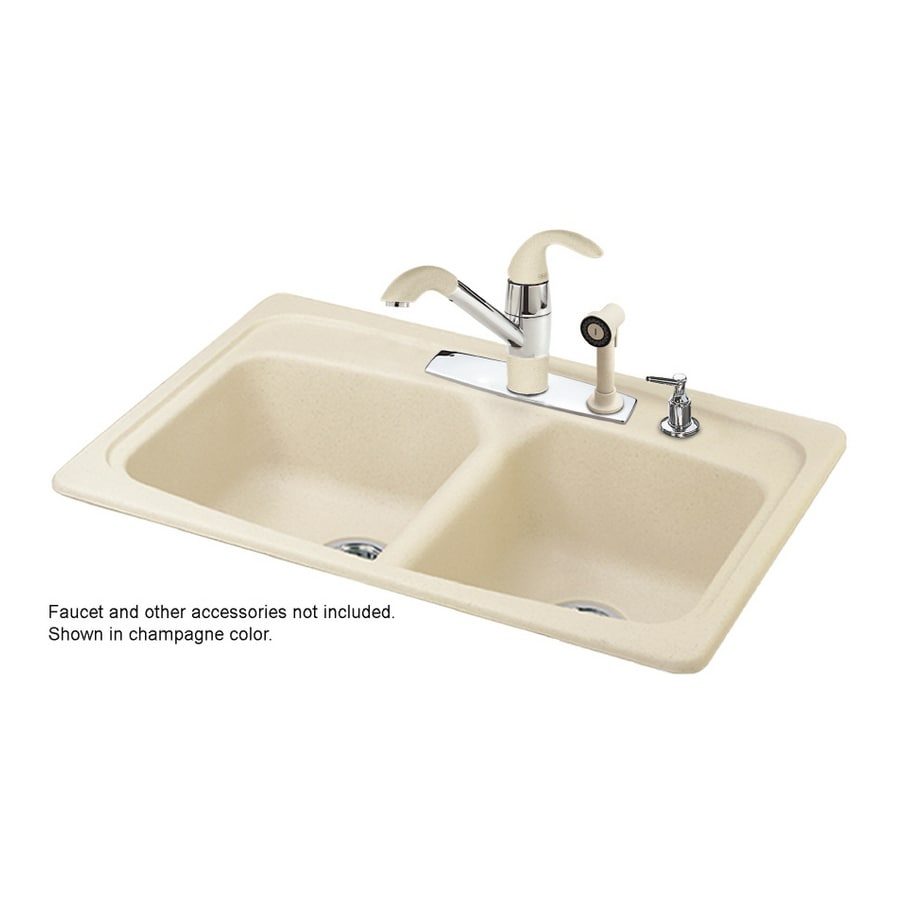 lowes composite granite kitchen sinks shop franke usa basin composite granite topmount 9073