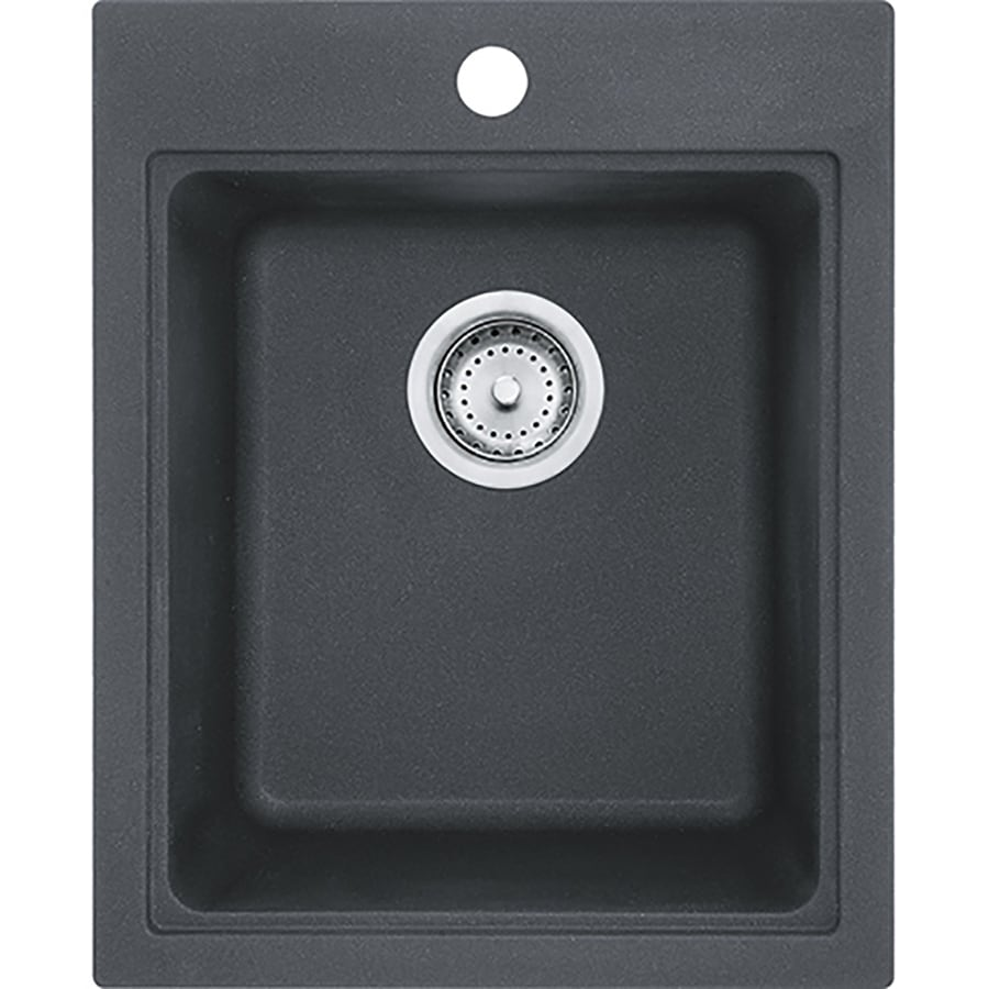 Franke Graphite Sink : Shop Franke Quantum Graphite 3-Hole Granite Drop-in or Undermount ...