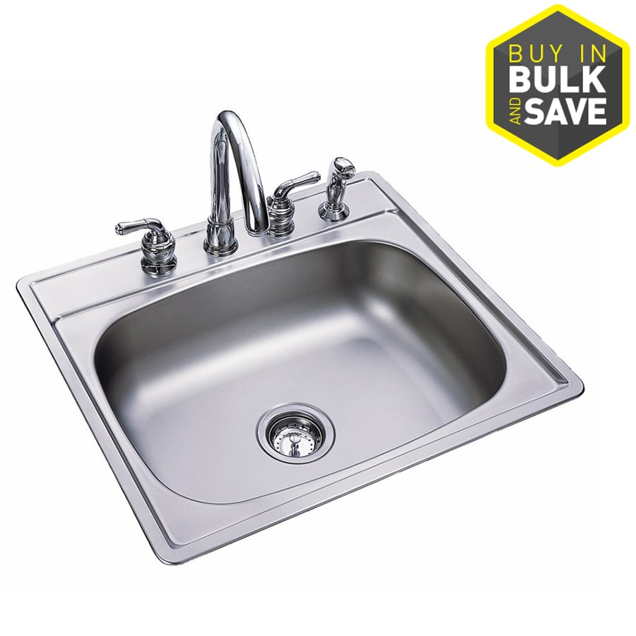 Kindred Essential 25 In X 22 In Stainless Single Basin Stainless Steel Drop