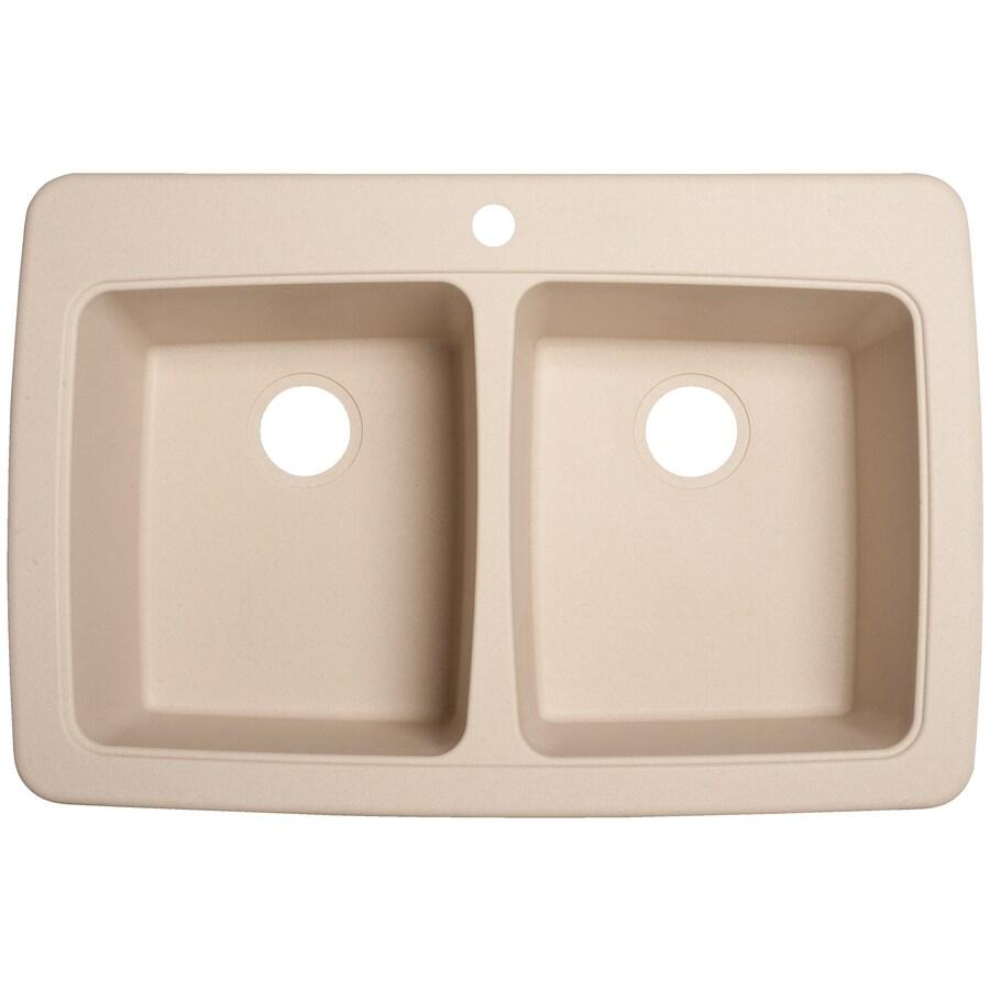 Franke Kitchen Sinks Granite Composite Shop Franke Usa 2225 In X 3375 In Champagne Double Basin Granite