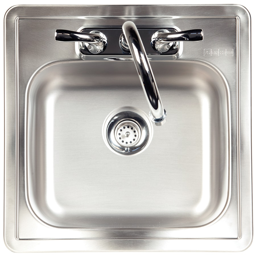 Kindred Essential 15-in x 15-in Satin Single-Basin Drop-in 2-Hole Commercial/Residential Kitchen Sink All-In-One Kit