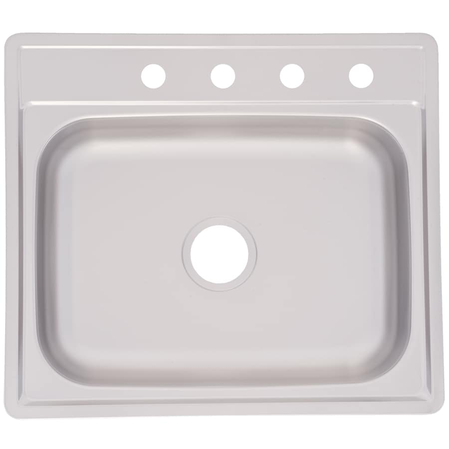 ... Steel Drop-in 4-Hole Commercial/Residential Kitchen Sink at Lowes.com