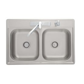 Kindred Essential 33 In X 22 In Satin Double Basin Stainless Steel Standard