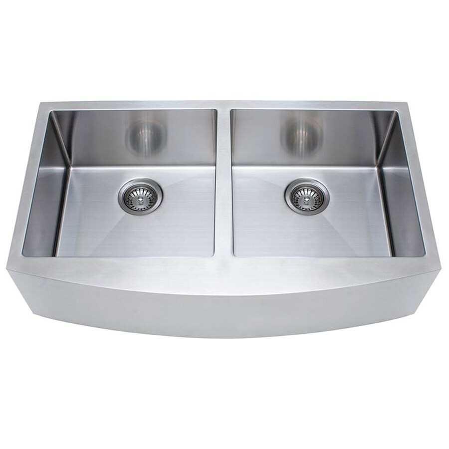 Shop franke x 36 in satin rim and bowls double - Kitchen sink rim ...