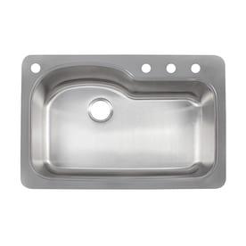Franke Kinetic 33 In X 22 In Single Basin Stainless Steel Drop