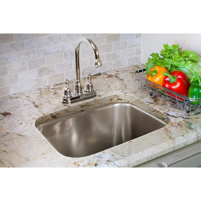 Franke Dual Mount 19 125 In X 17 In Stainless Steel Single Bowl 2 Hole Kitchen Sink In The Kitchen Sinks Department At Lowes Com