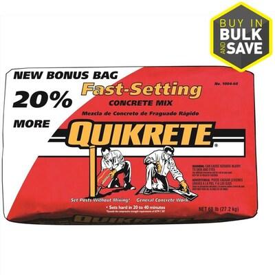 QUIKRETE 60-lb Fast Setting Concrete Mix at Lowes com